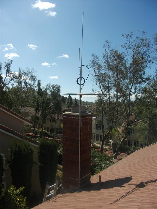 Chimney Antenna Mast ~ New antenna mounting home bikingbrian
